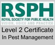 RSPH level 2 Certificate for Pest Control in London and Essex
